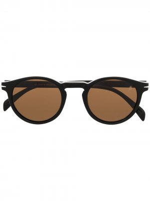 Солнцезащитные очки в круглой оправе Eyewear by David Beckham. Цвет: черный