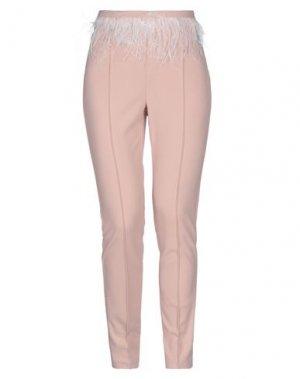 Повседневные брюки SOALLURE. Цвет: розовый