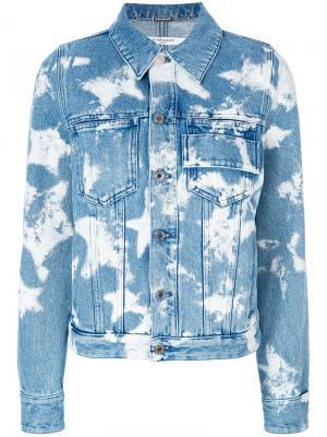 Bleached star denim jacket Givenchy. Цвет: синий