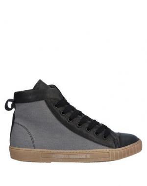 Высокие кеды и кроссовки ALBERTO FERMANI. Цвет: серый