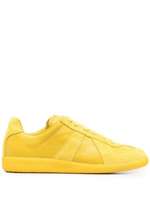 Кеды на шнуровке Maison Margiela. Цвет: желтый