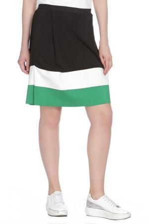 Юбка Liviana Conti. Цвет: черный, зеленый