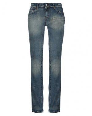 Джинсовые брюки CORLEONE. Цвет: синий