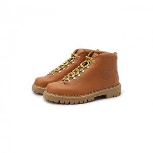 Кожаные ботинки Diemme. Цвет: коричневый