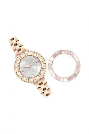 Наручные часы, сменный безель Furla. Цвет: розовый