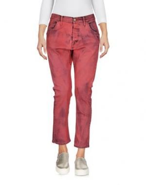 Джинсовые брюки-капри ICE ICEBERG. Цвет: красный