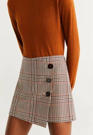 Юбка-шорты Mango - ALEXA. Цвет: коричневый