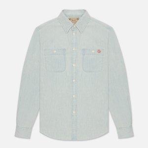 Женская рубашка Polo Bear Denim Straight Fit Ralph Lauren. Цвет: голубой