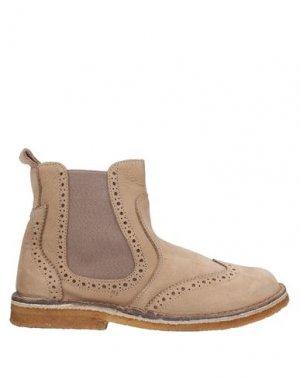 Полусапоги и высокие ботинки EUREKA. Цвет: бежевый