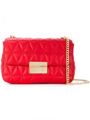 Большая сумка на плечо Sloan Michael Kors. Цвет: красный