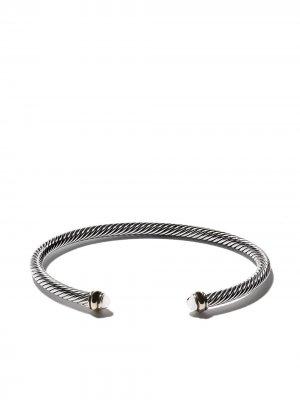 Браслет-кафф Cable с акцентами из золота David Yurman. Цвет: s8