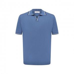 Хлопковое поло Gran Sasso. Цвет: голубой