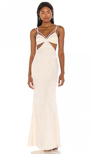 Вечернее платье faron Camila Coelho. Цвет: кремовый