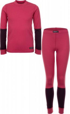 Комплект термобелья для девочек Baselayer Set, размер 146-152 Craft. Цвет: розовый