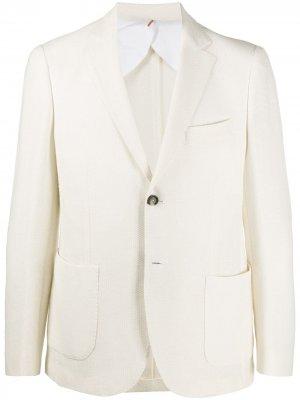 Delloglio однобортный пиджак Dell'oglio. Цвет: белый