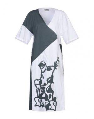 Платье длиной 3/4 IXOS. Цвет: белый