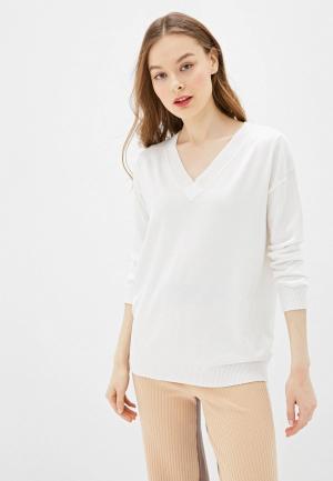Пуловер Sela. Цвет: белый