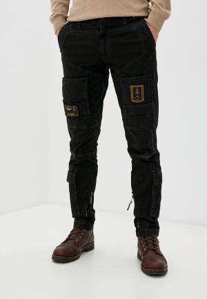 Куртка кожаная Aeronautica Militare. Цвет: коричневый