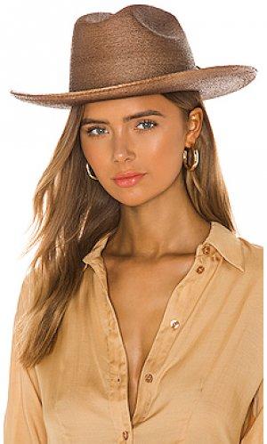 Ковбойская шляпа vasquez Brixton. Цвет: коричневый