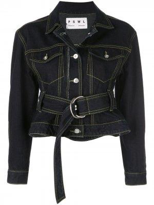 Джинсовая куртка Rigid Proenza Schouler. Цвет: черный