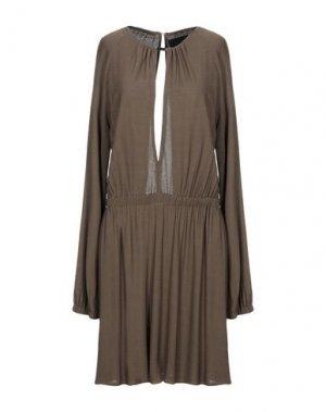 Короткое платье JAY AHR. Цвет: темно-зеленый