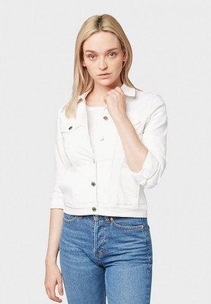 Куртка джинсовая Tom Tailor Denim. Цвет: белый