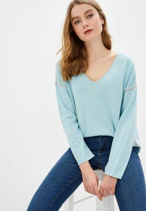 Пуловер Sela. Цвет: голубой