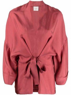 Кафтан с поясом Alysi. Цвет: розовый
