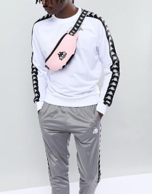 Розовая сумка-кошелек на пояс с логотипом Kappa. Цвет: розовый