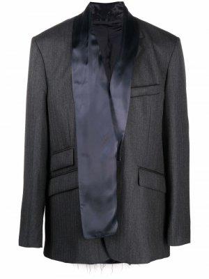 Деконструированный пиджак Maison Margiela. Цвет: серый