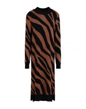 Платье миди VILA. Цвет: черный