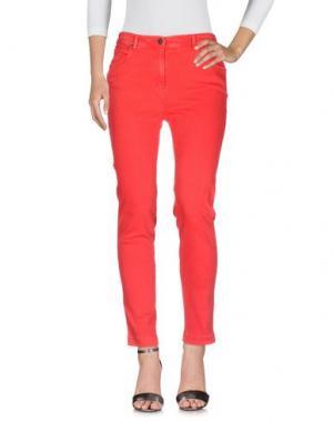 Джинсовые брюки CLIPS MORE. Цвет: красный