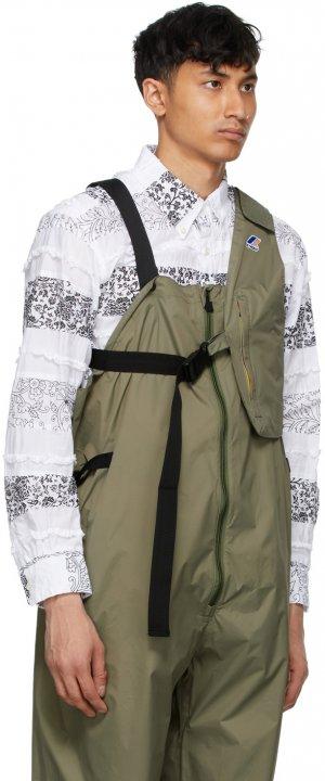 Khaki K-Way Edition Kayden 3.0 Vest Bag Engineered Garments. Цвет: green dk olive
