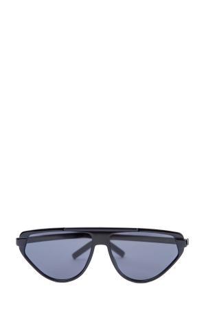 Очки BlackTie247 с интерпретированной оправой авиатор в черном цвете DIOR (sunglasses) men. Цвет: черный