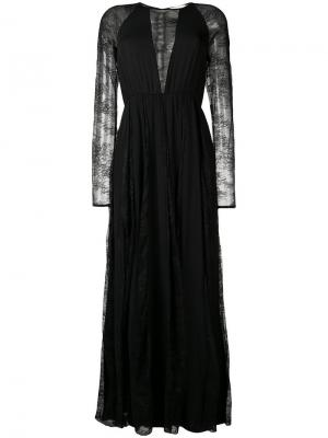 Платье с вставками из цветочного кружева Aniye By. Цвет: черный