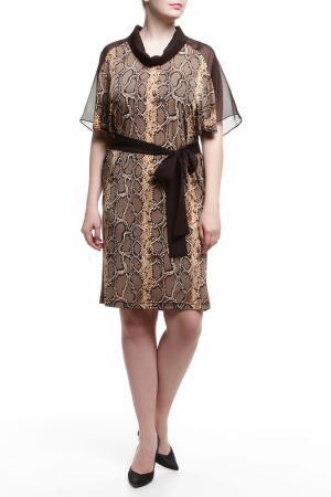 Платье BMBL VIRSAVIYA. Цвет: коричневый