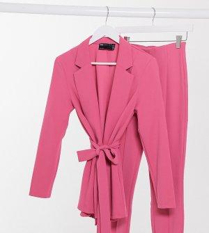 Трикотажный пиджак пурпурного цвета с запахом ASOS DESIGN Maternity-Розовый Maternity