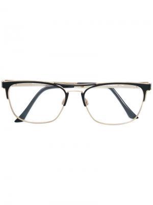 Очки в квадратной оправе Cazal. Цвет: черный