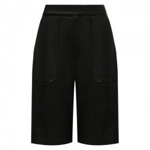 Кожаные шорты Khaite. Цвет: чёрный