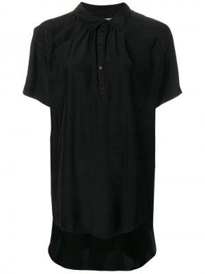 Блузка с короткими рукавами и драпировкой A.F.Vandevorst. Цвет: черный