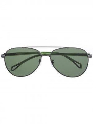 Солнцезащитные очки-авиаторы Zadig&Voltaire. Цвет: золотистый