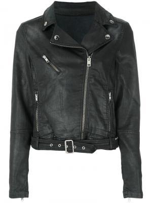 Байкерская куртка Diesel. Цвет: чёрный