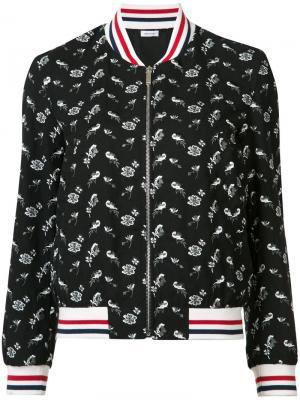 Куртка-бомбер с принтом Thom Browne. Цвет: чёрный