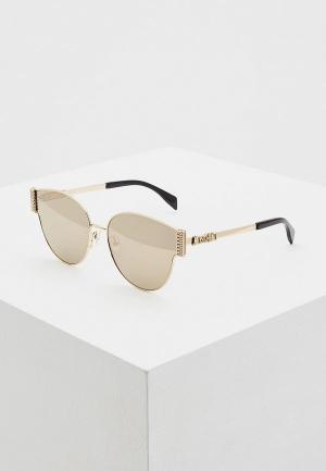 Очки солнцезащитные Moschino MOS028/F/S RHL. Цвет: золотой