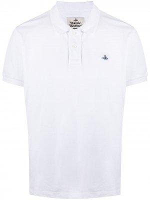 Рубашка поло с вышитым логотипом Vivienne Westwood. Цвет: белый