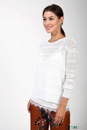 Пуловер Set. Цвет: белый