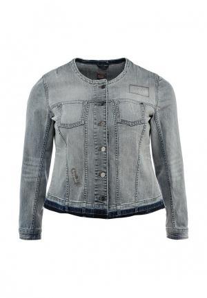 Куртка джинсовая Triangle by s.Oliver. Цвет: разноцветный
