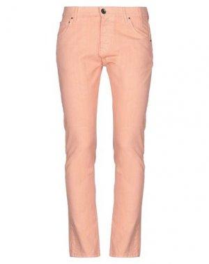 Джинсовые брюки NOVEMB3R. Цвет: телесный