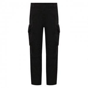 Хлопковые брюки-карго C.P. Company. Цвет: чёрный