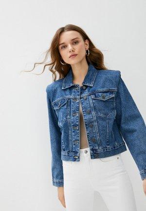 Куртка джинсовая Sela Exclusive online. Цвет: синий